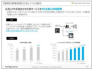 フルスピード【戦略的事業提携】広告とPRの融合