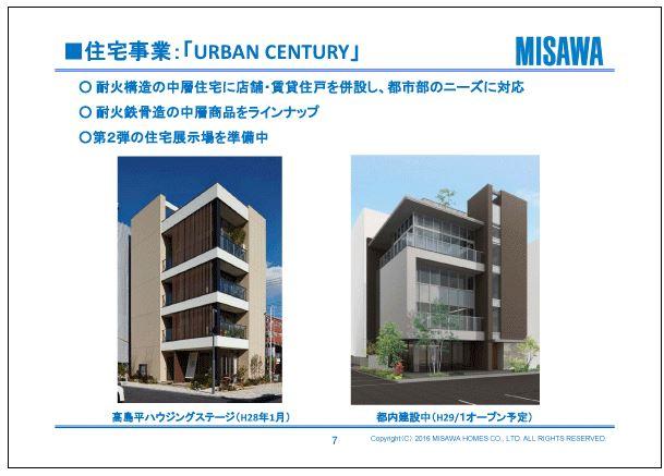 ミサワホーム住宅事業:「URBAN-CENTURY」