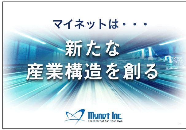 マイネットマイネットは・・・新たな産業構造を創る