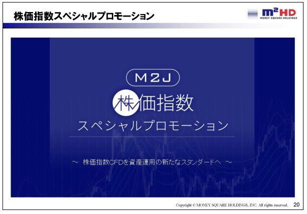 マネースクウェアHD株価指数スペシャルプロモーション