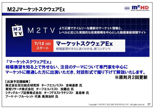 マネースクウェアHDM2JマーケットスクウェアEx