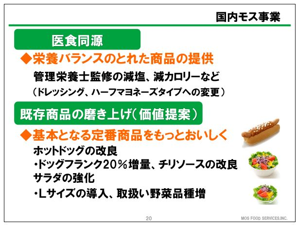 モスフードサービス医食同源・既存商品の磨き上げ(価値提案)