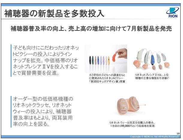 リオン補聴器の新製品を多数投入