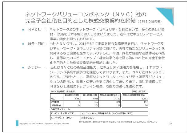 新日鉄住金ソリューションズネットワークバリューコンポネンツ(NVC)社の完全子会社化を目的とした株式交換契約を締結
